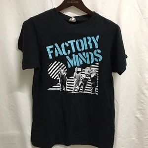 Vintage Factory Minds Punk Band T-Shirt Mens Small